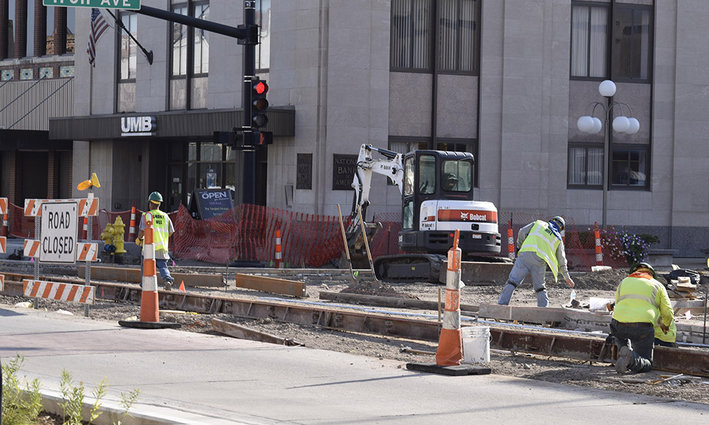 Work on downtown Santa Fe nears end in Salina, Kansas