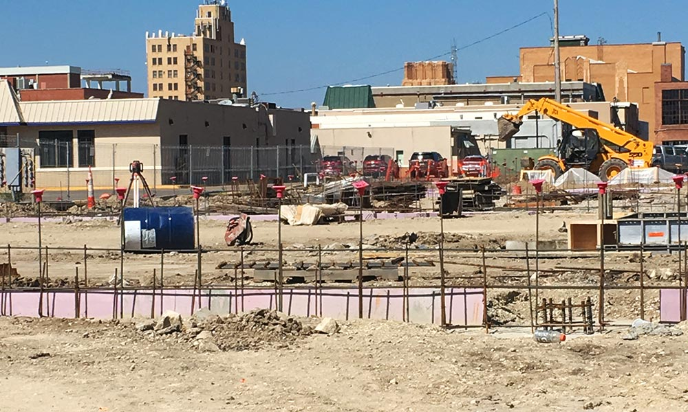Future site of the Homewood Suites by Hilton® hotel, currently under construction in Salina, Kansas